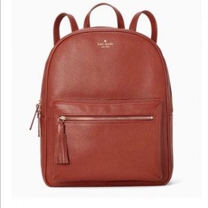 Kate spare leather backpack purse brown bag NWT